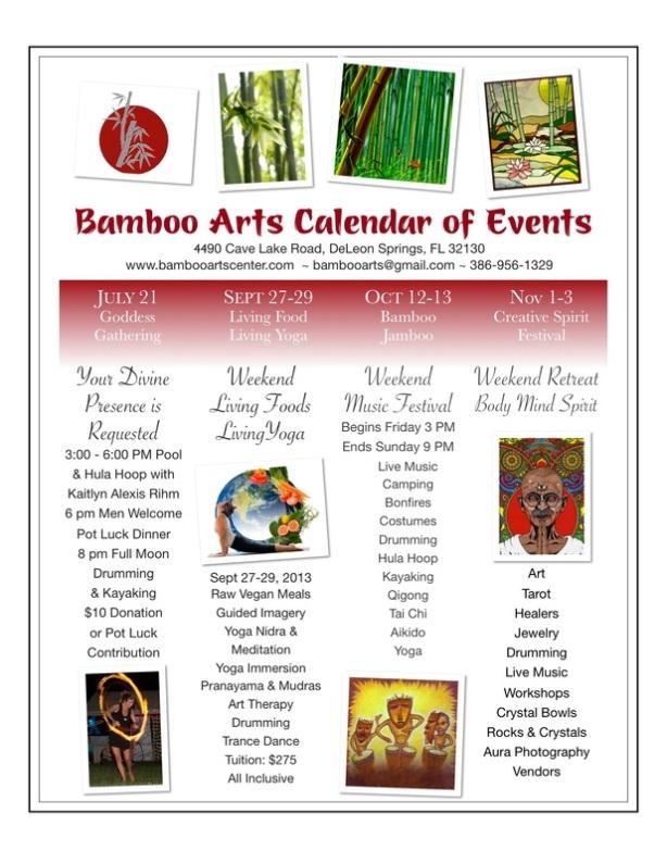 bamboo arts calendar